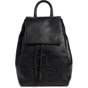 Tory Burch Bombe-T Flap Black Backpack